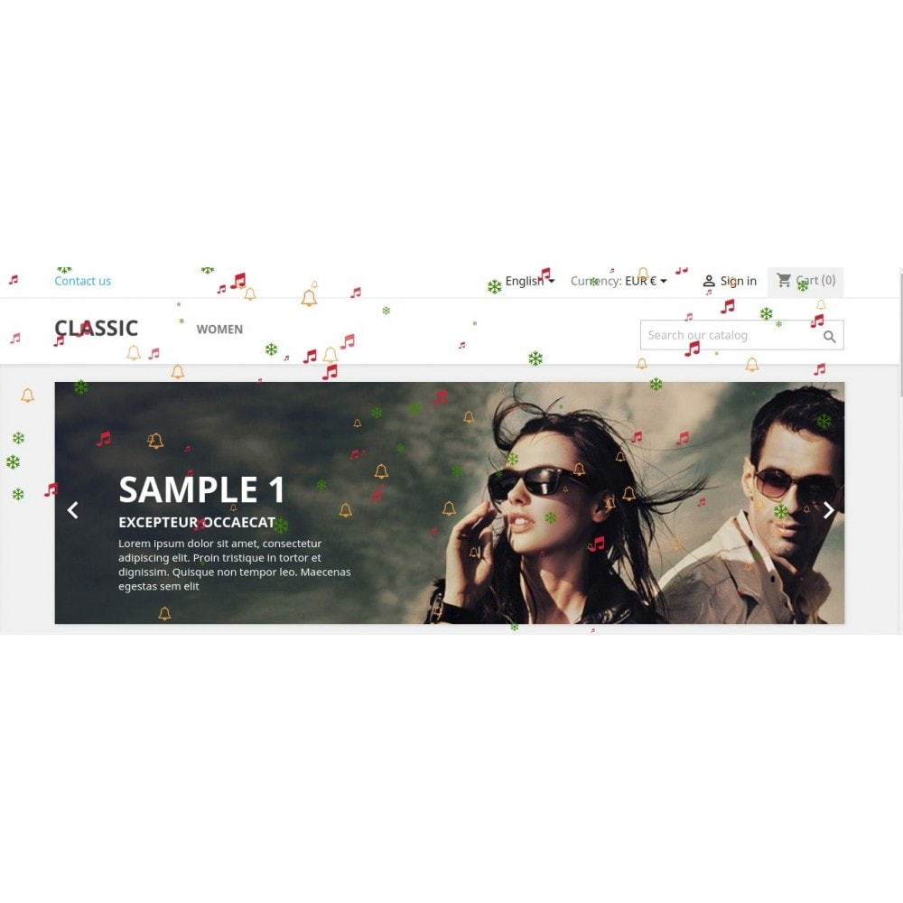 module - Page Customization - Knowband - Website Decoration Effects - 5