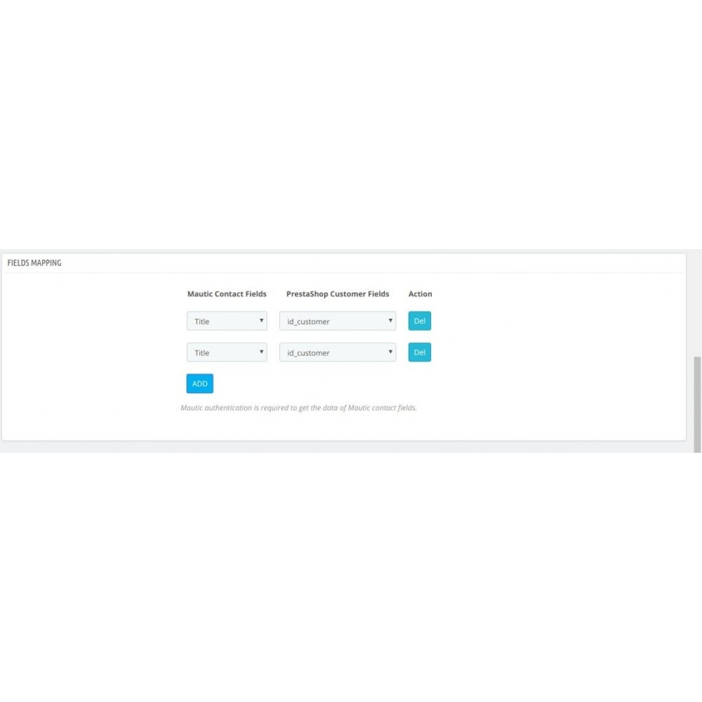 module - Remarketing & Paniers Abandonnés - Intégration  Mautic - 5