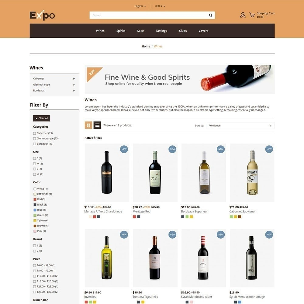 theme - Drink & Wine - Expo - Wine Store - 3