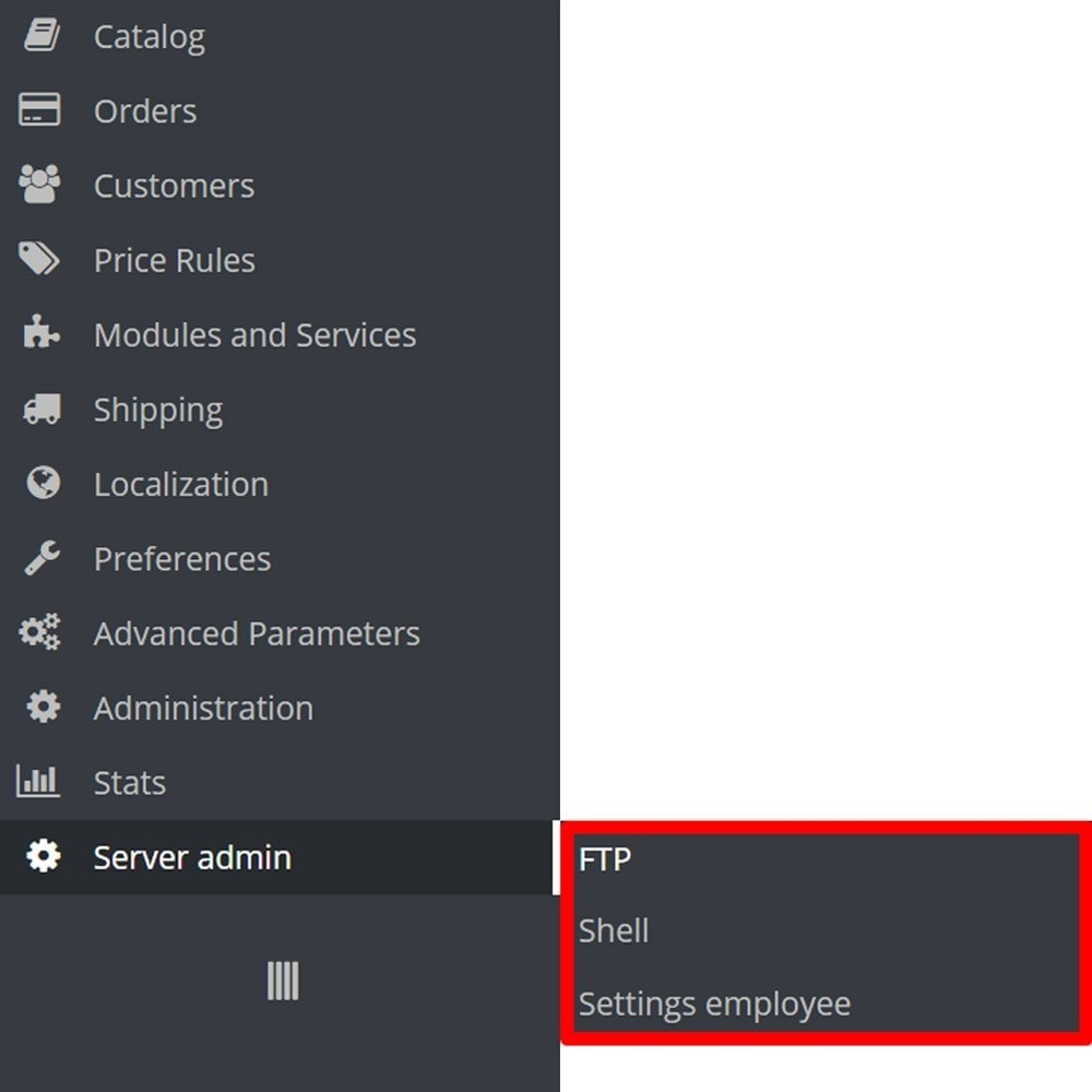 module - Administrative Tools - Backoffice FTP and Shell - 8