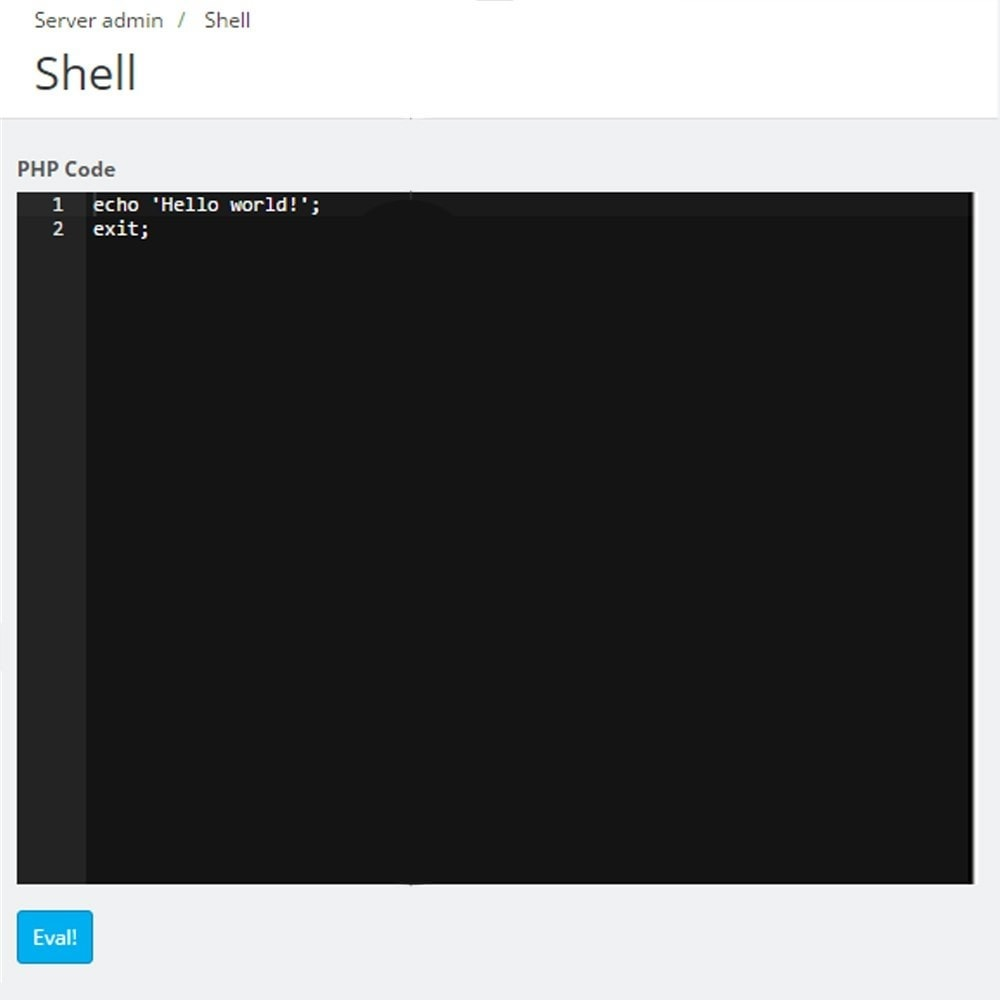 module - Administrative Tools - Backoffice FTP and Shell - 9