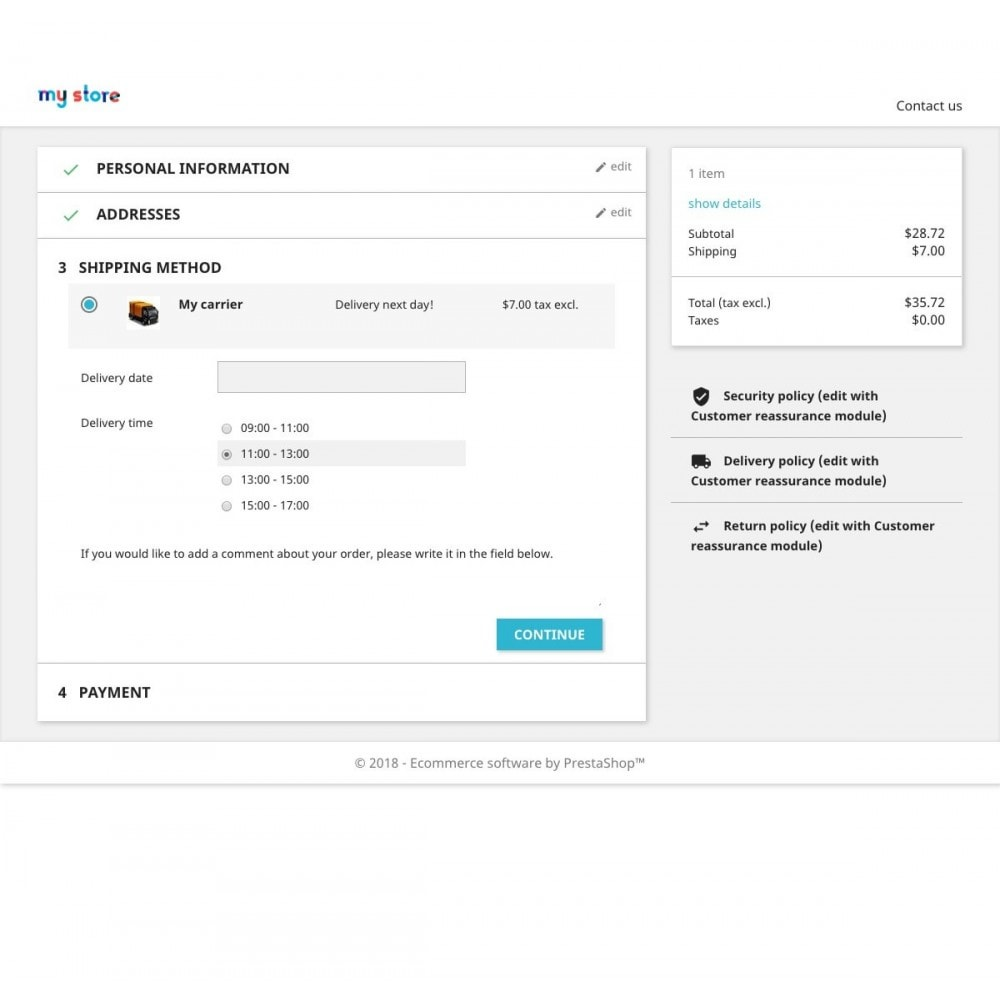 module - Punto di raccolta & Ritiro in negozio - Data di consegna avanzata Pro - 1