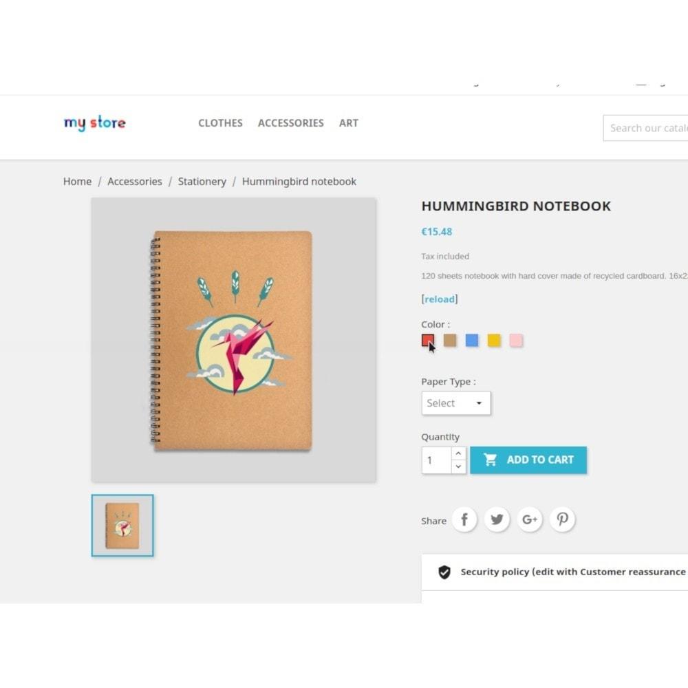 module - Combinaciones y Personalización de productos - Filterattribute - Declination and Attribute in Stock - 9
