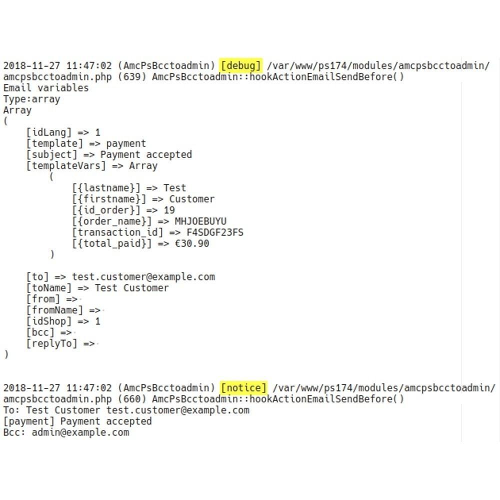 module - E-mails & Notícias - Bcc All Email to Admin - 4