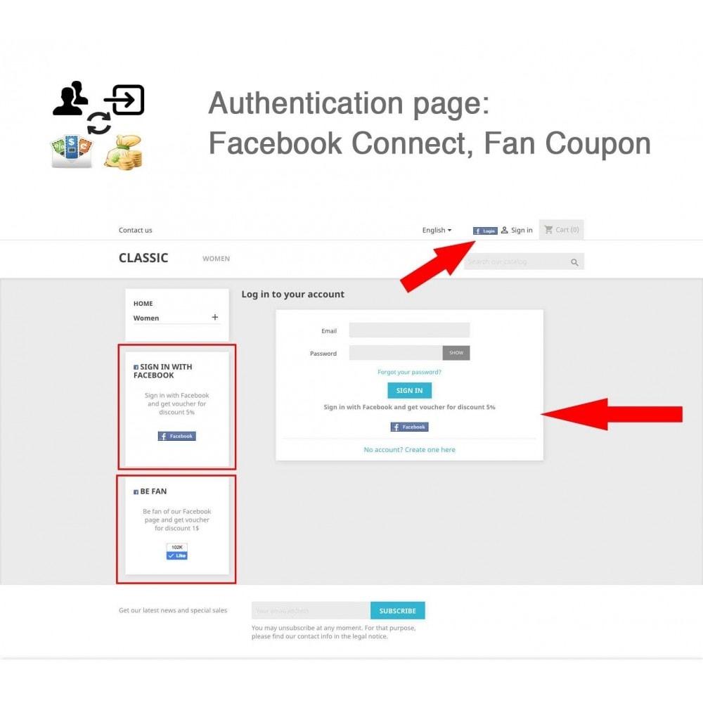 module - Social Login & Connect - Social Connect, Fan Coupon, Registration Coupon - 2