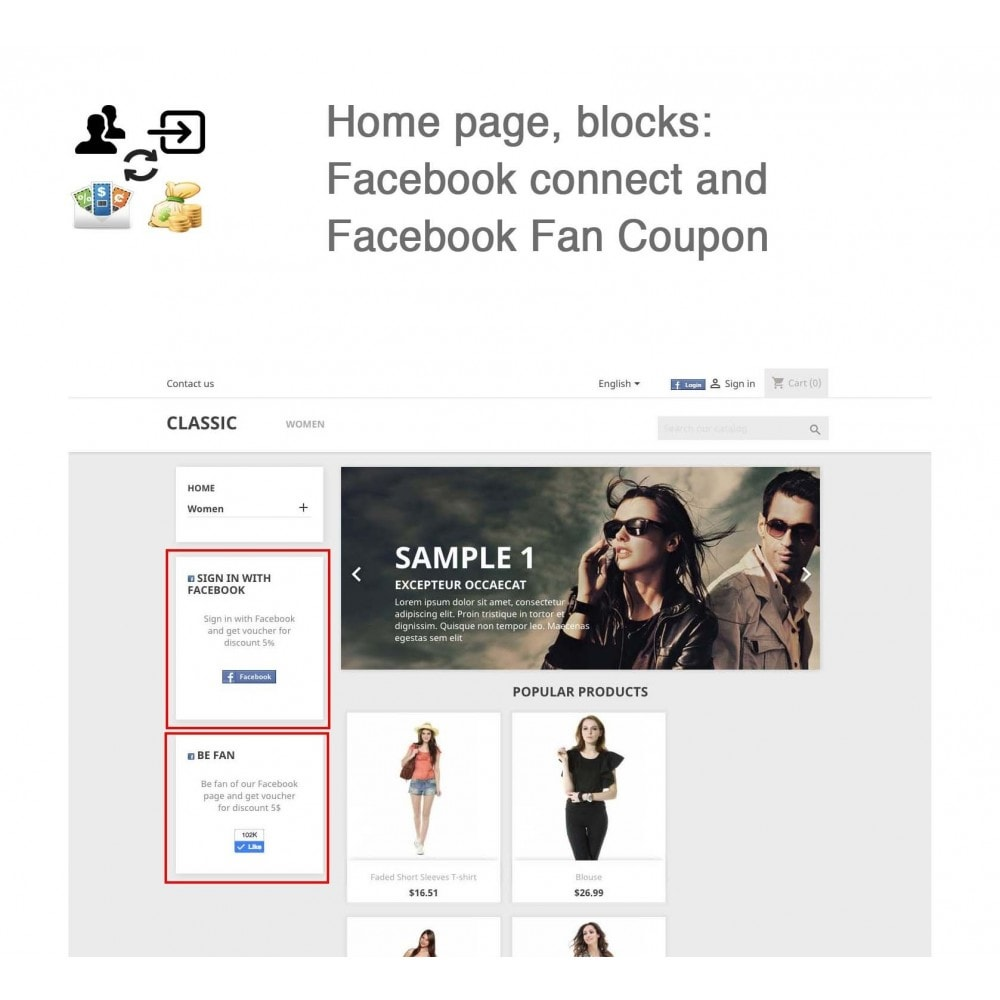 module - Social Login & Connect - Social Connect, Fan Coupon, Registration Coupon - 5