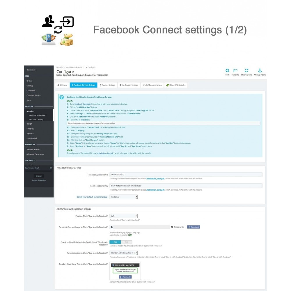 module - Social Login & Connect - Social Connect, Fan Coupon, Registration Coupon - 17