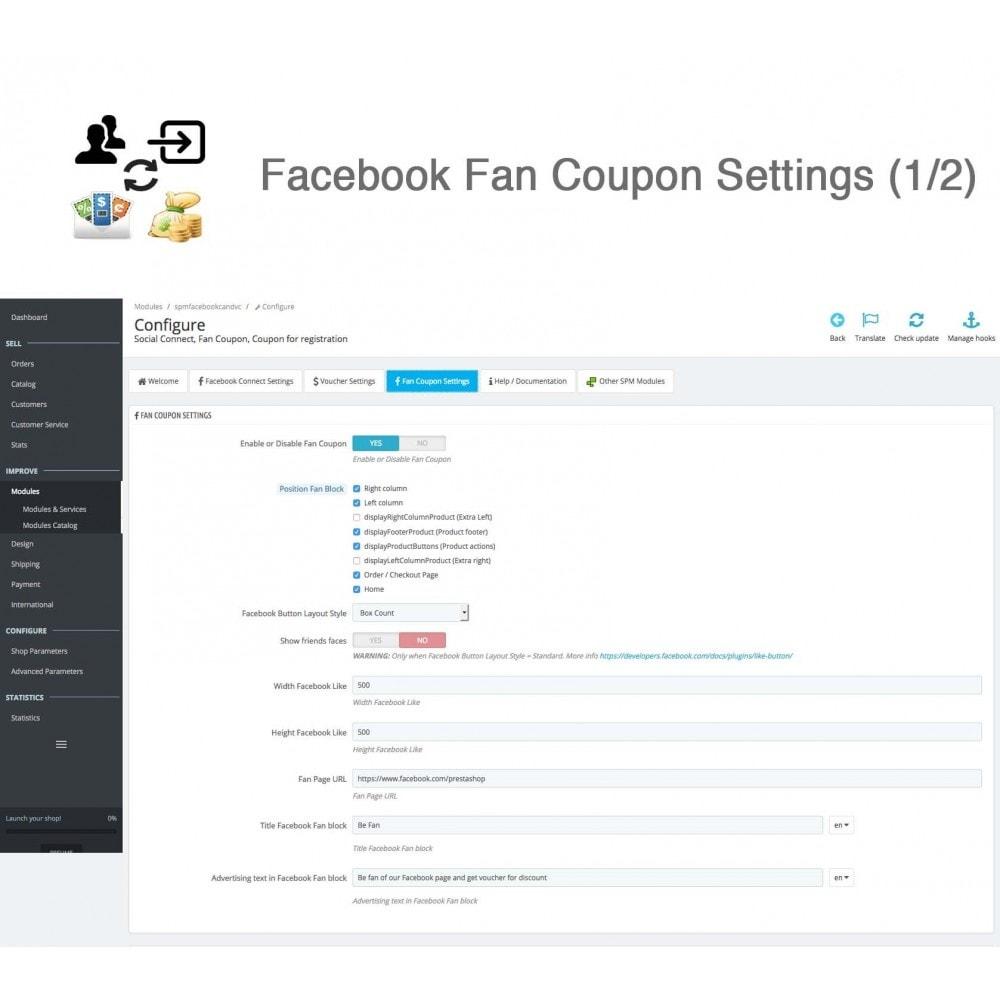 module - Social Login & Connect - Social Connect, Fan Coupon, Registration Coupon - 20