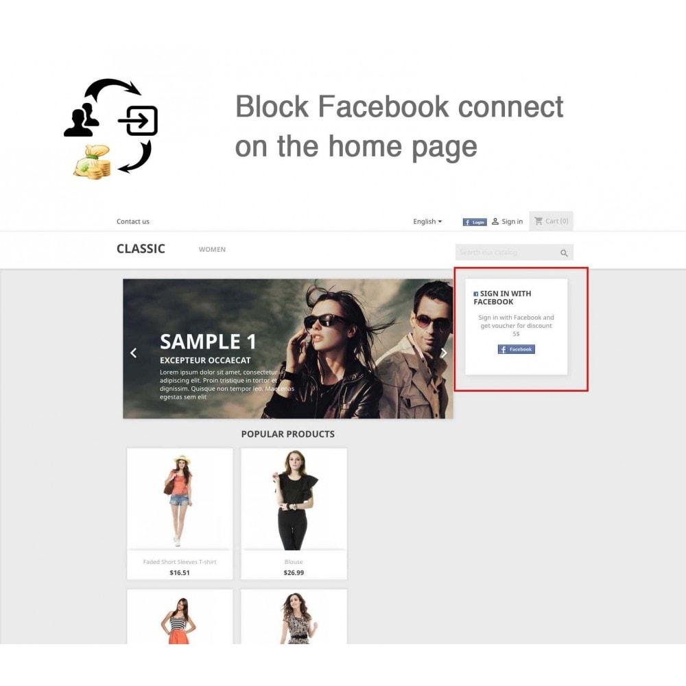 module - Boutons Login & Connect - Social Connecter + Coupon pour inscription - 8