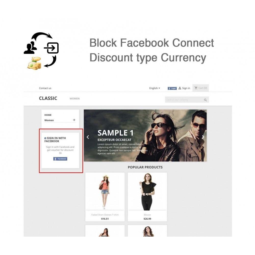 module - Boutons Login & Connect - Social Connecter + Coupon pour inscription - 9
