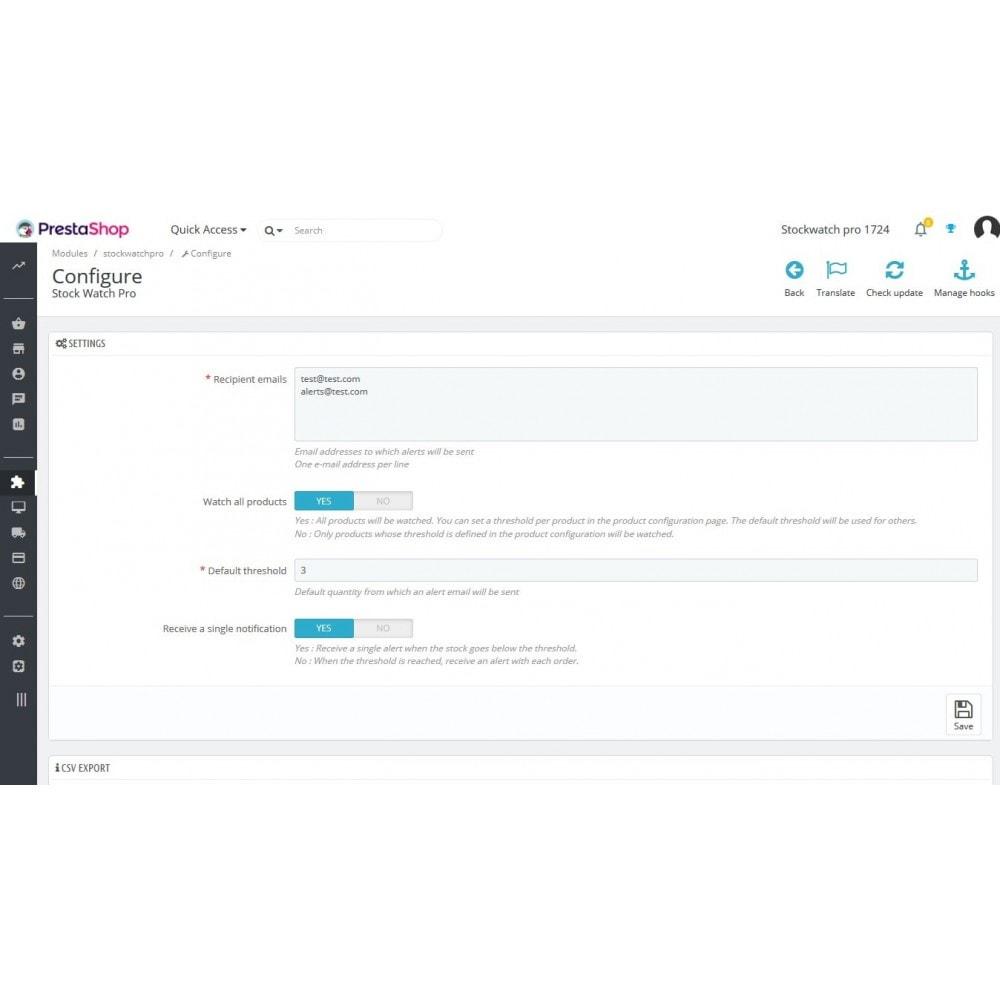 module - Zarządzanie zapasami &  Dostawcy - Stock Watch Pro - 1