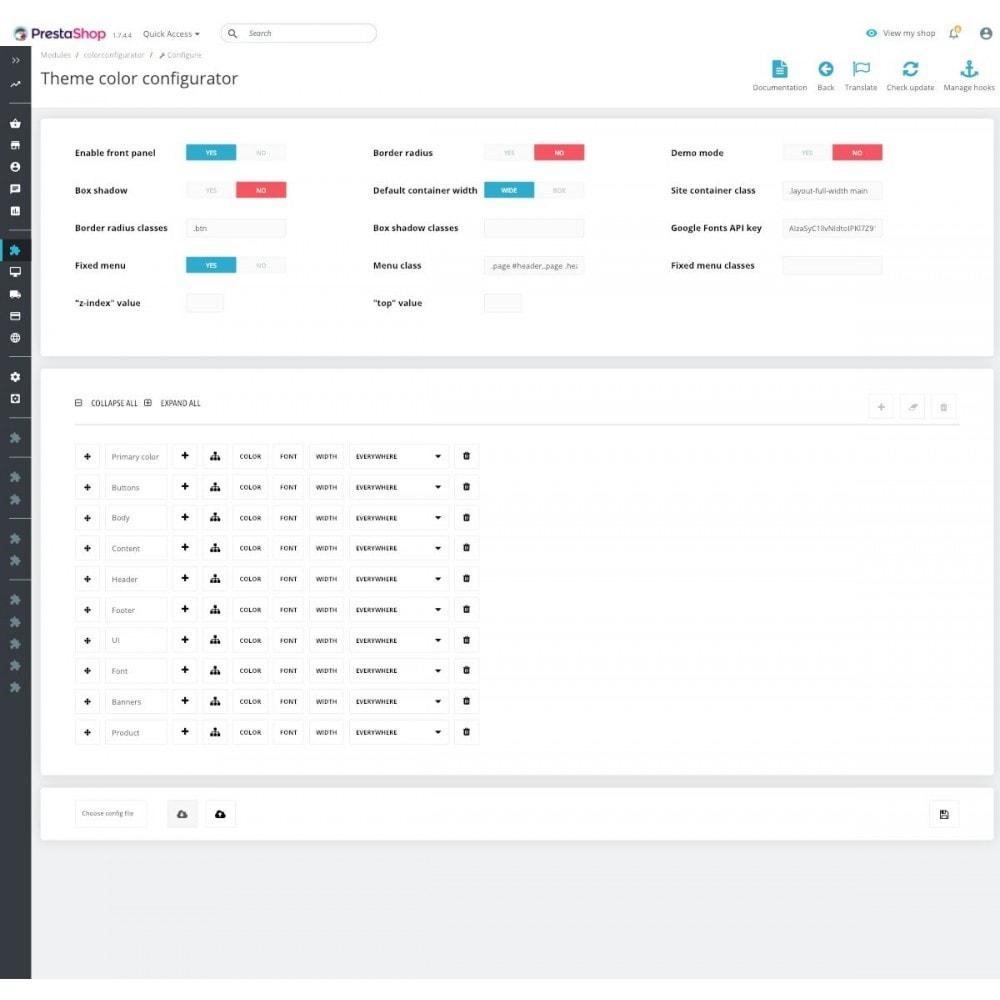 module - Personnalisation de Page - Colors and Fonts Theme Configurator - 4