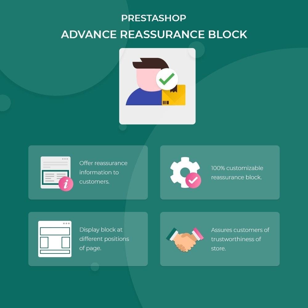 module - Blocchi, Schede & Banner - Advance Reassurance Block - 1