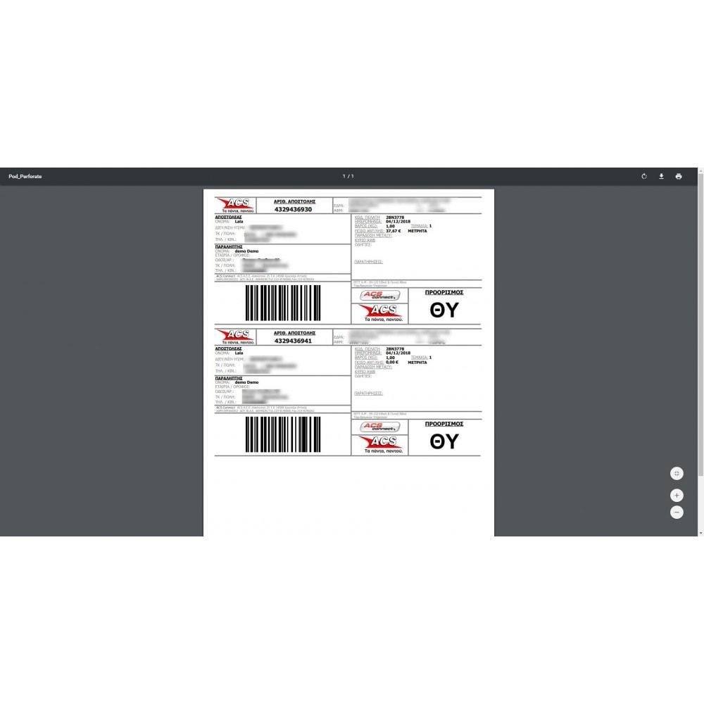 module - Transportadoras - MyACS Greek Voucher Print and Cost calculation - 3