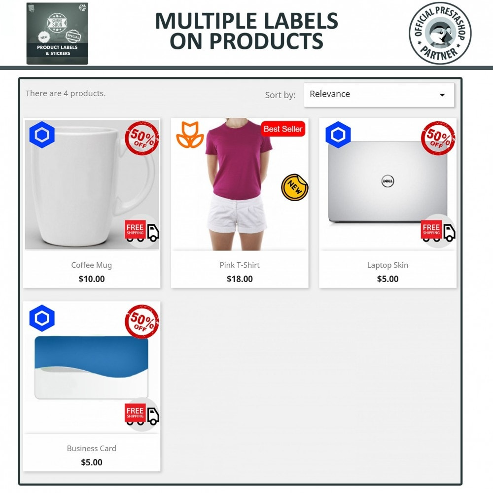 module - Badges & Logos - Product Labels and Stickers - 4