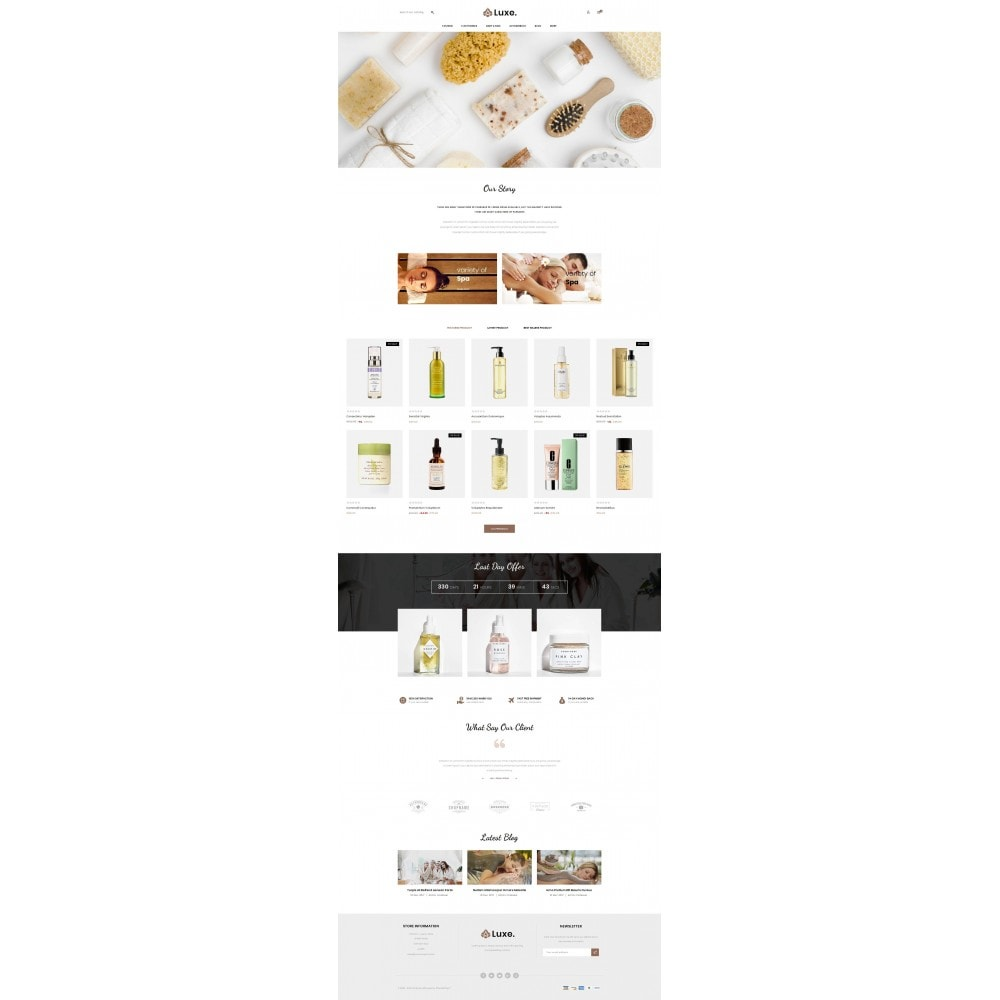 theme - Здоровье и красота - Luxe Spa Store - 2