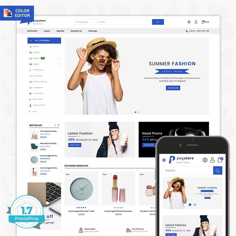 theme - Electronics & Computers - PayStore - The Mega Ecommerce Store - 1
