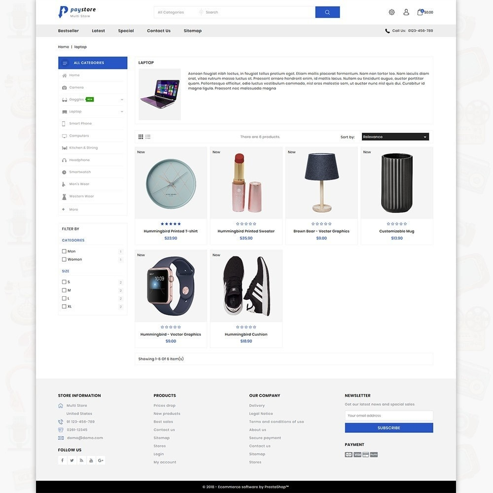 theme - Electronics & Computers - PayStore - The Mega Ecommerce Store - 3