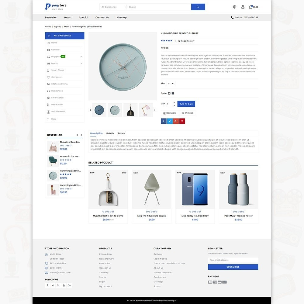 theme - Electronics & Computers - PayStore - The Mega Ecommerce Store - 6