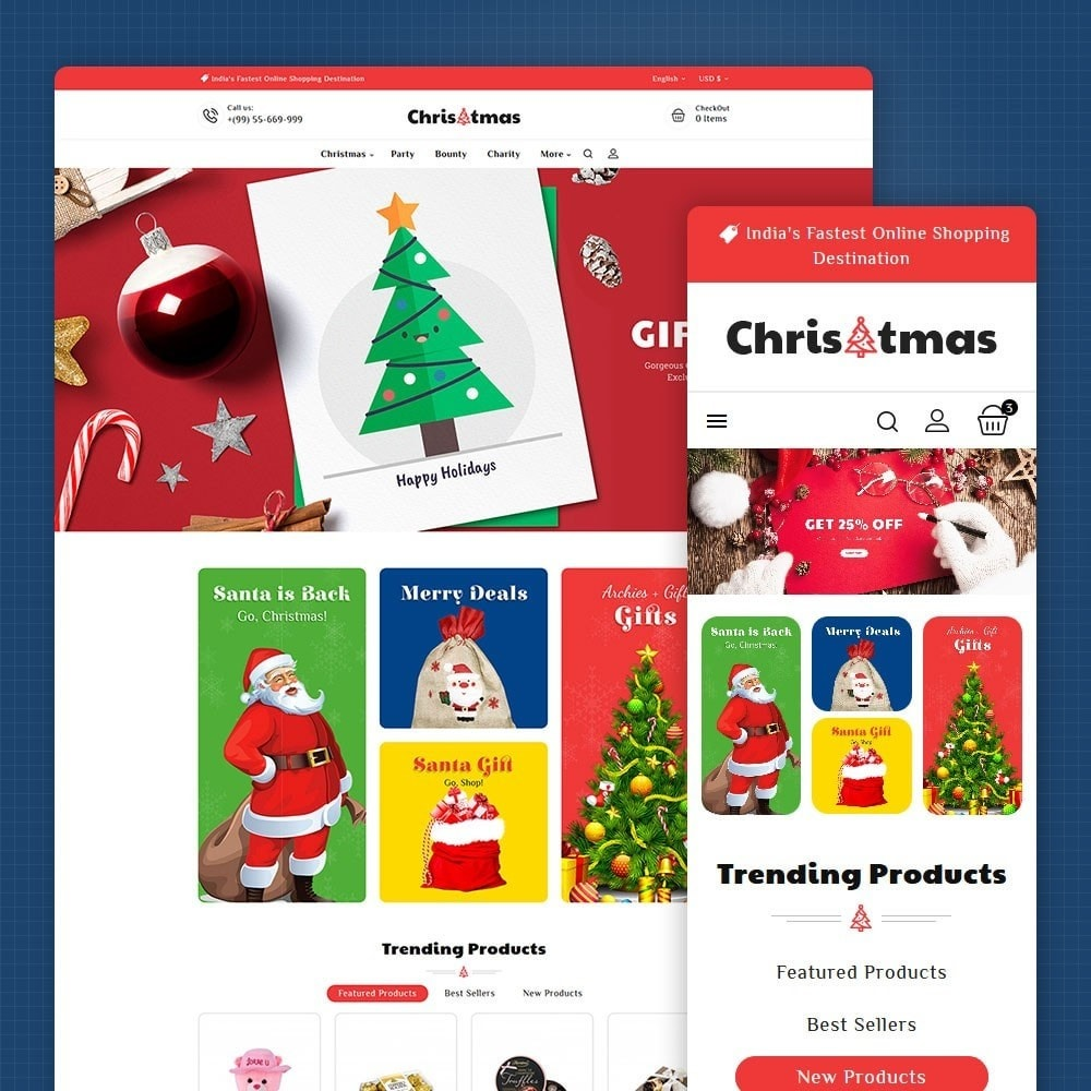 theme - Regalos, Flores y Celebraciones - Christmas Gift - 1