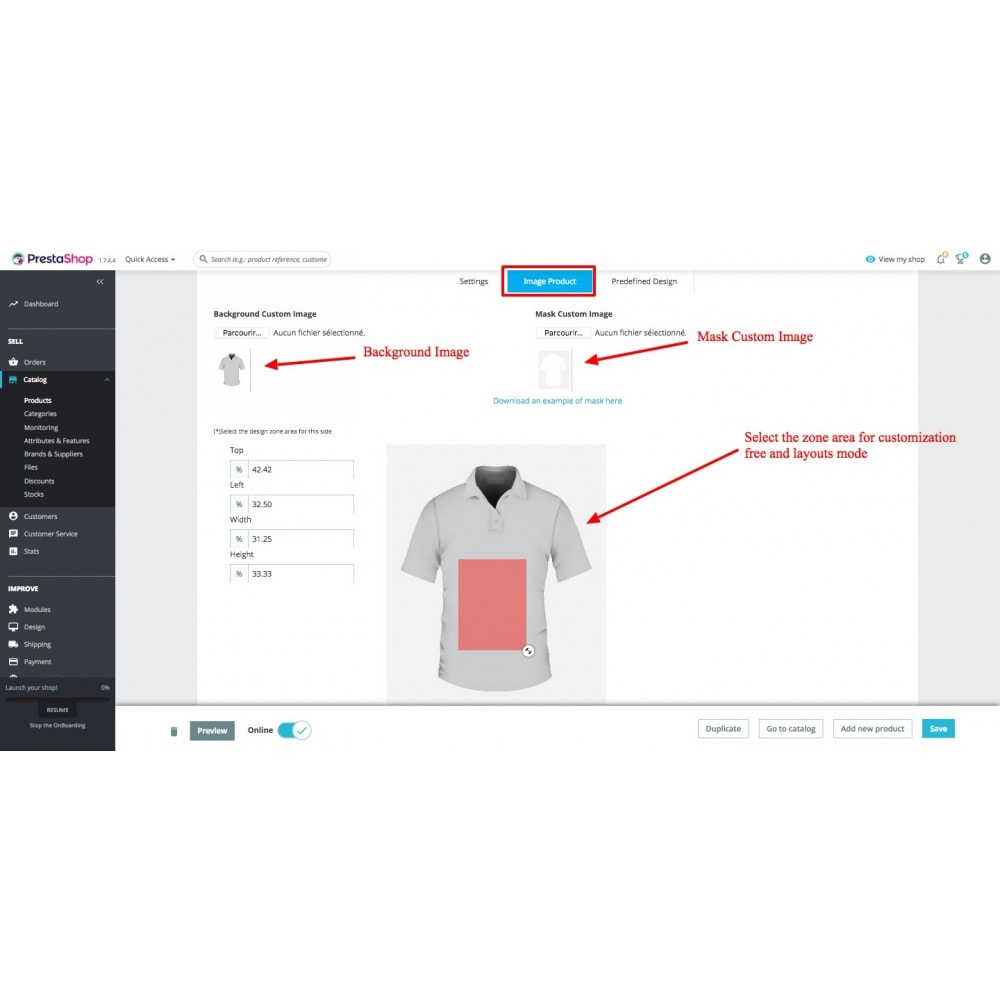 module - Déclinaisons & Personnalisation de produits - Personnalisation de produit - Product Customize - 12