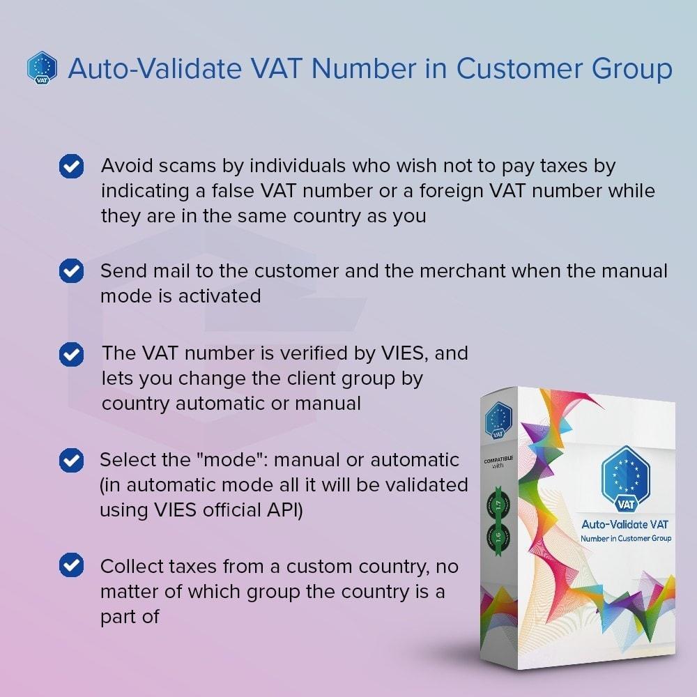 module - Boekhouding en fakturatie - Auto-Validate VAT Number in Customer Group - 1