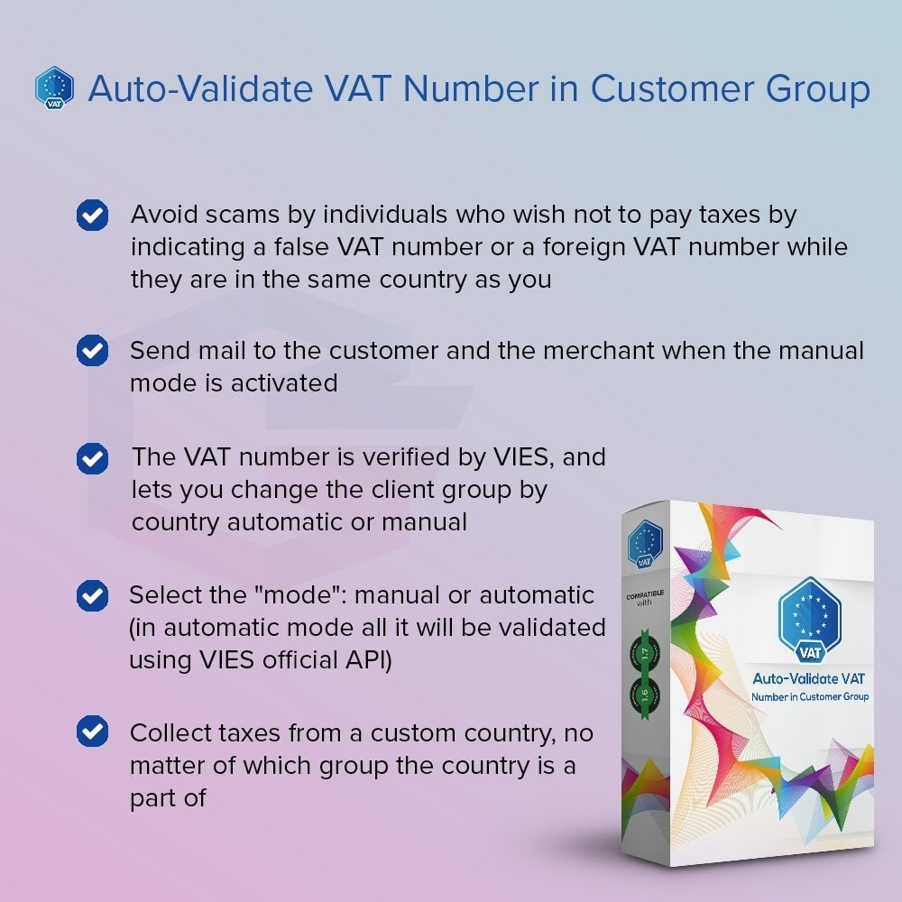 module - Comptabilité & Facturation - Auto-Validate VAT Number in Customer Group - 1