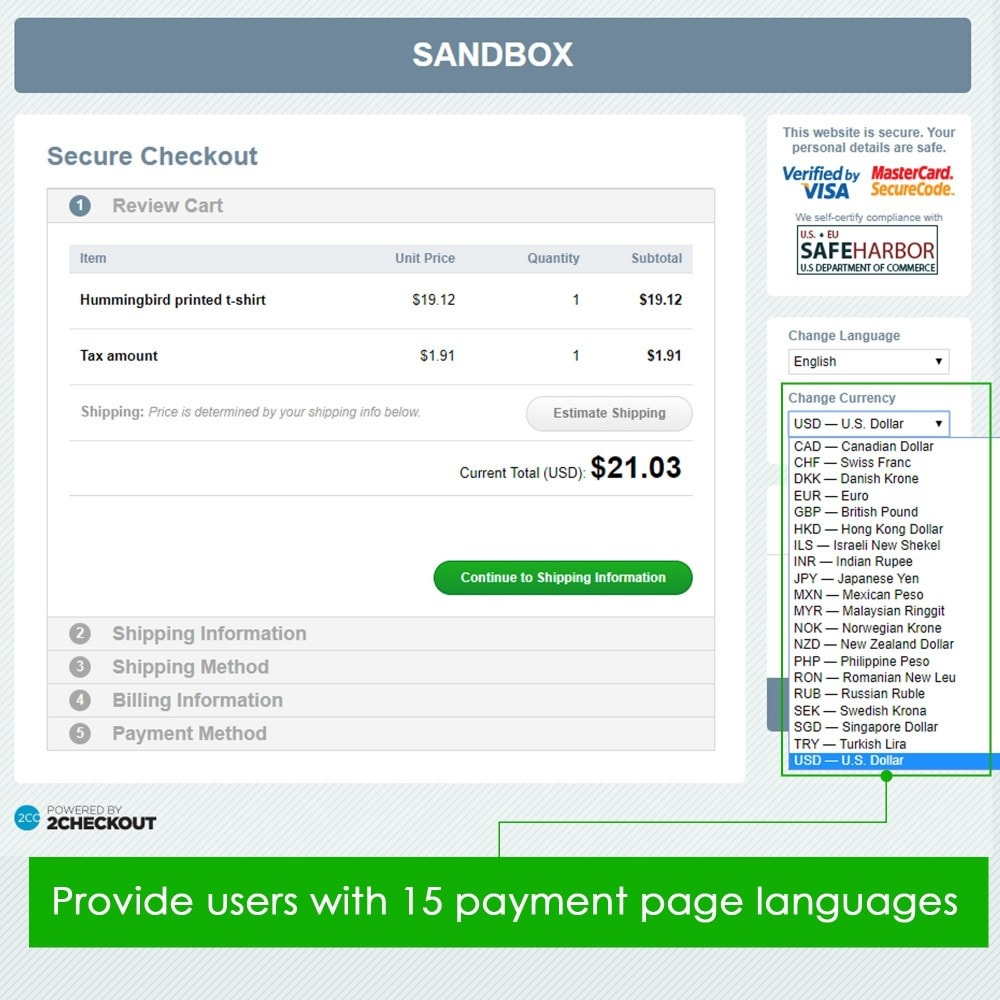 module - Bestelproces - 2checkout payment - accept credit card, PayPal payments - 3