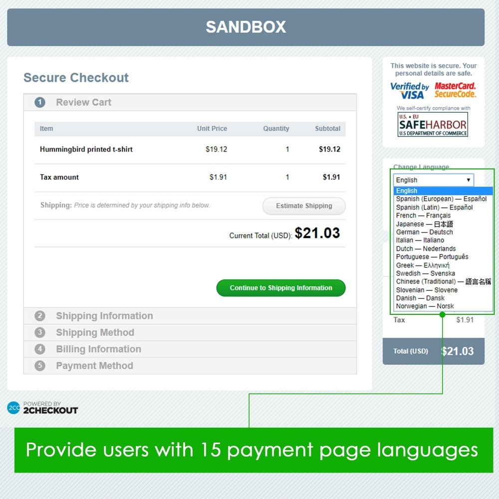 module - Bestelproces - 2checkout payment - accept credit card, PayPal payments - 4