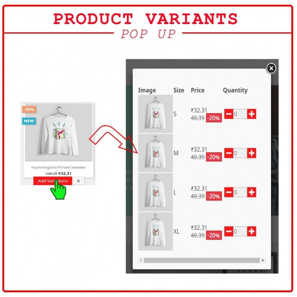 module - Processus rapide de commande - Quick Add to Cart Products Combinations with Quantity - 3