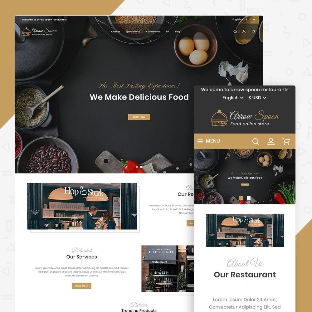 theme - Food & Restaurant - Arrow Spoon Restaurants - 1