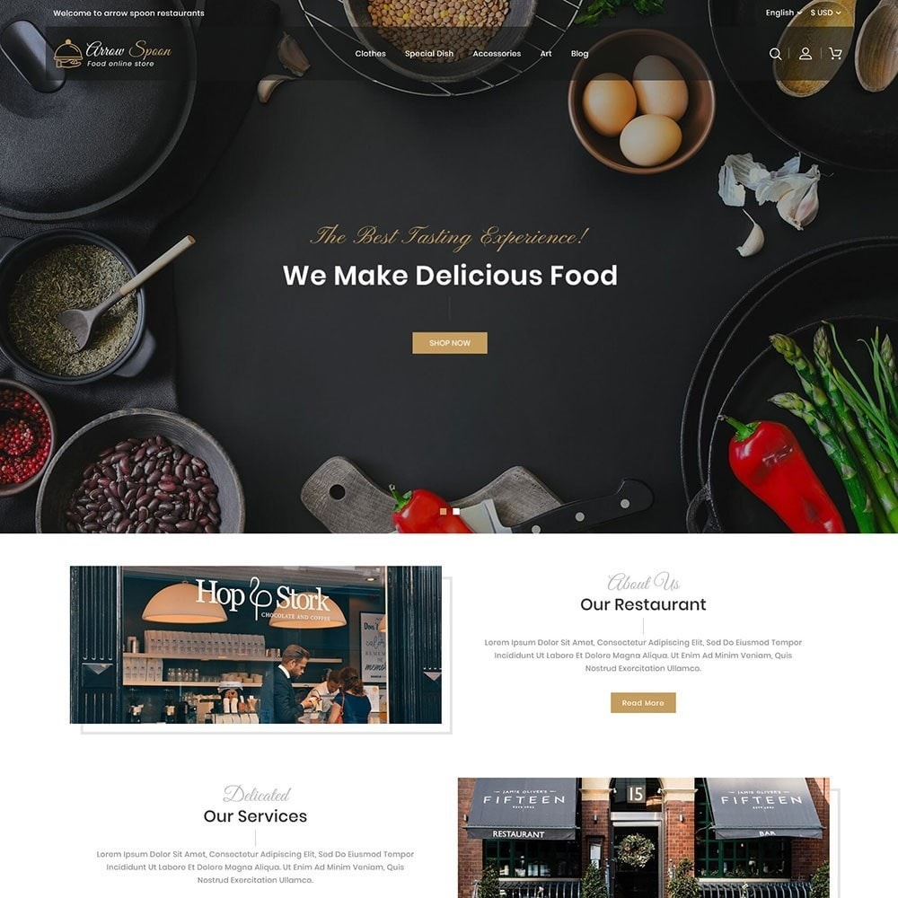 theme - Food & Restaurant - Arrow Spoon Restaurants - 2