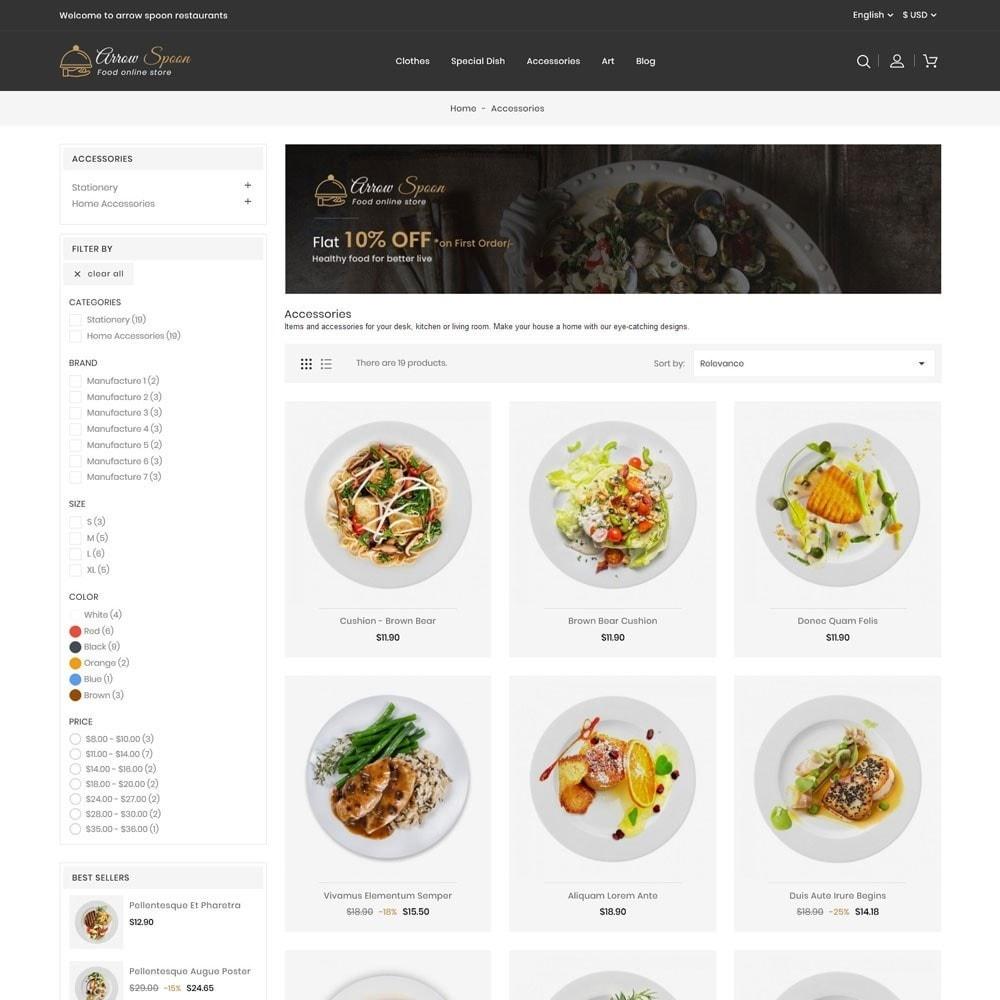 theme - Food & Restaurant - Arrow Spoon Restaurants - 3