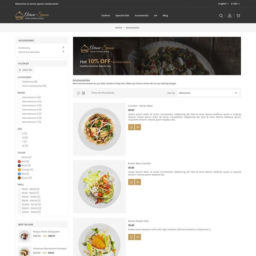 theme - Food & Restaurant - Arrow Spoon Restaurants - 4