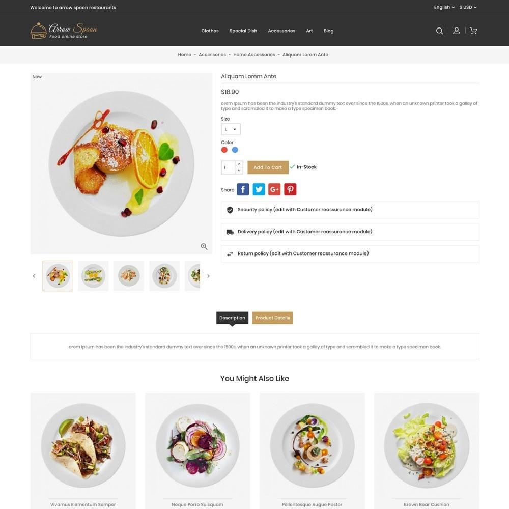 theme - Food & Restaurant - Arrow Spoon Restaurants - 5