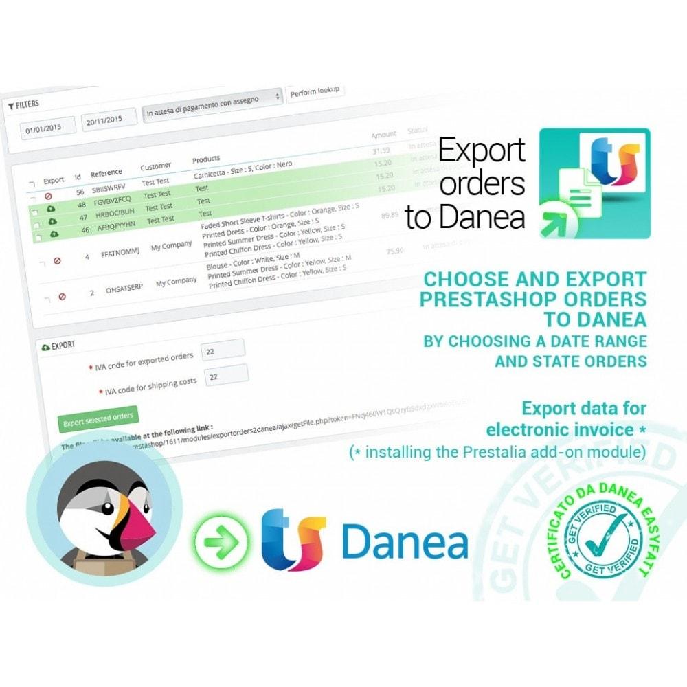 module - Соединение с внешней программой (CRM, ERP...) - Export orders to Danea EasyFatt - 1