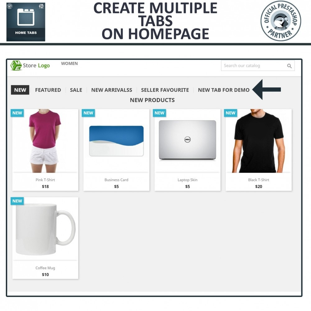 module - Blocks, Tabs & Banners - Home Tabs - Add Custom Products Sorting Tabs - 2
