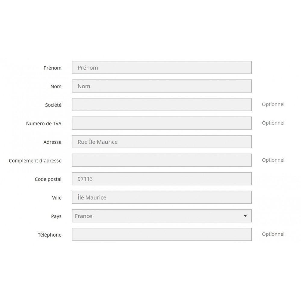 module - International & Localisation - Vérification des codes postaux DOM TOM - 1