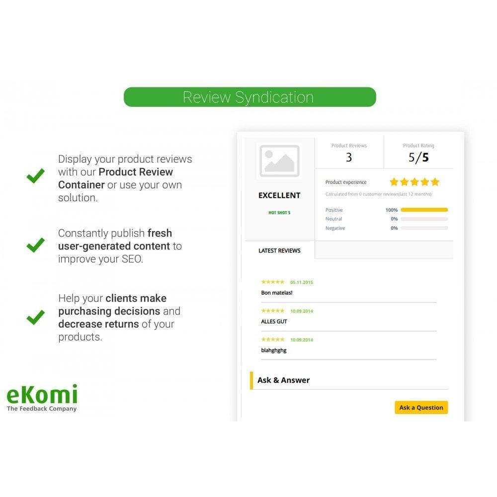 module - Opiniões de clientes - Avaliações e classificações eKomi - 5