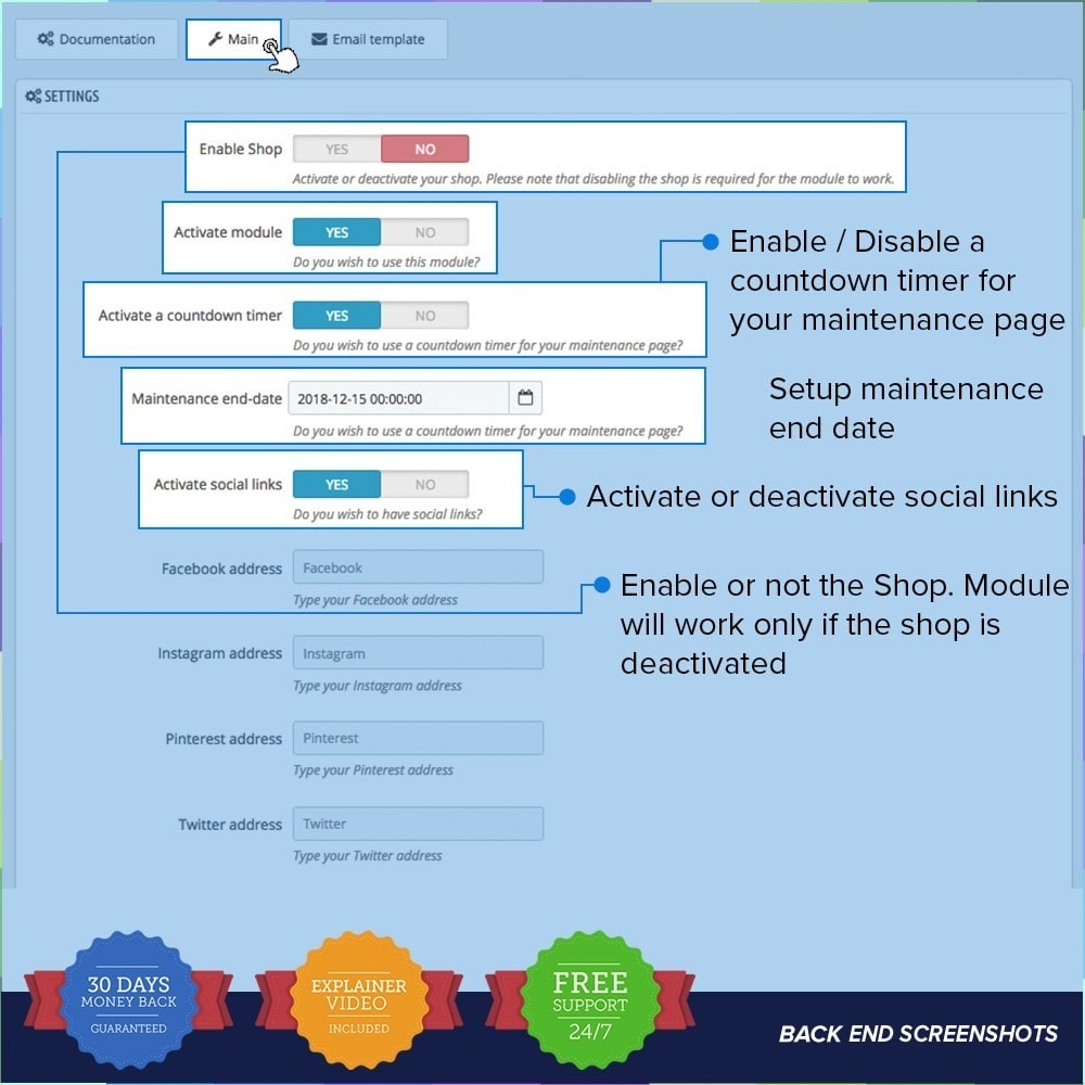 module - Individuelle Seitengestaltung - Custom Maintenance Page - 2