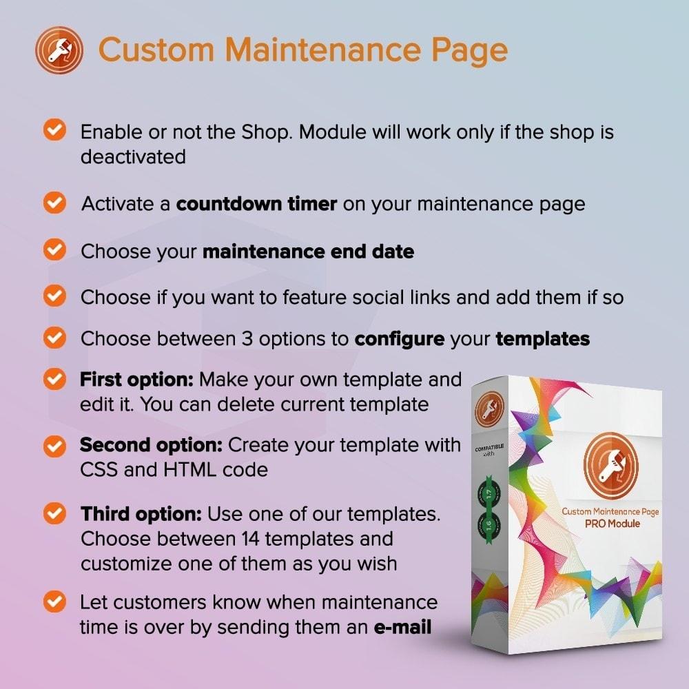 module - Personalizzazione pagine - Pagina di Manutenzione Personalizzata - 1