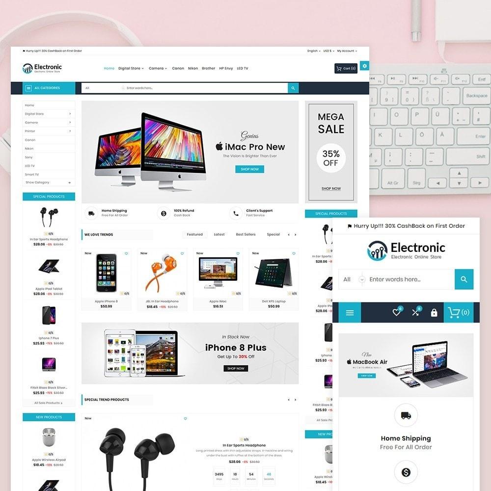 theme - Электроника и компьютеры - Electronic – The Electronic Mega Shop - 1