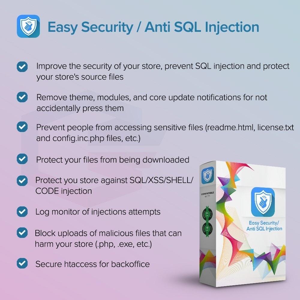 module - Veiligheid & Toegang - Easy Security / Anti SQL Injection PRO - 1