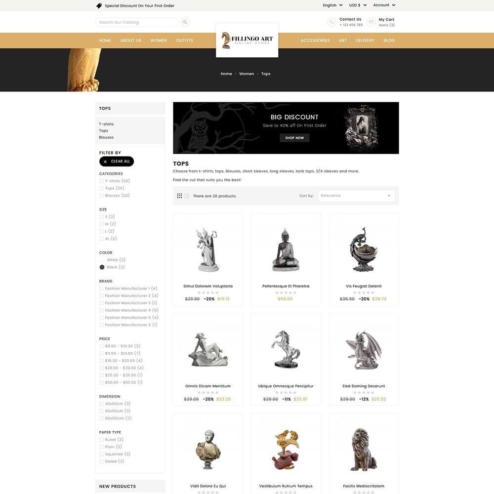 theme - Kultura & Sztuka - Filingo Art and Sculpture Store - 4