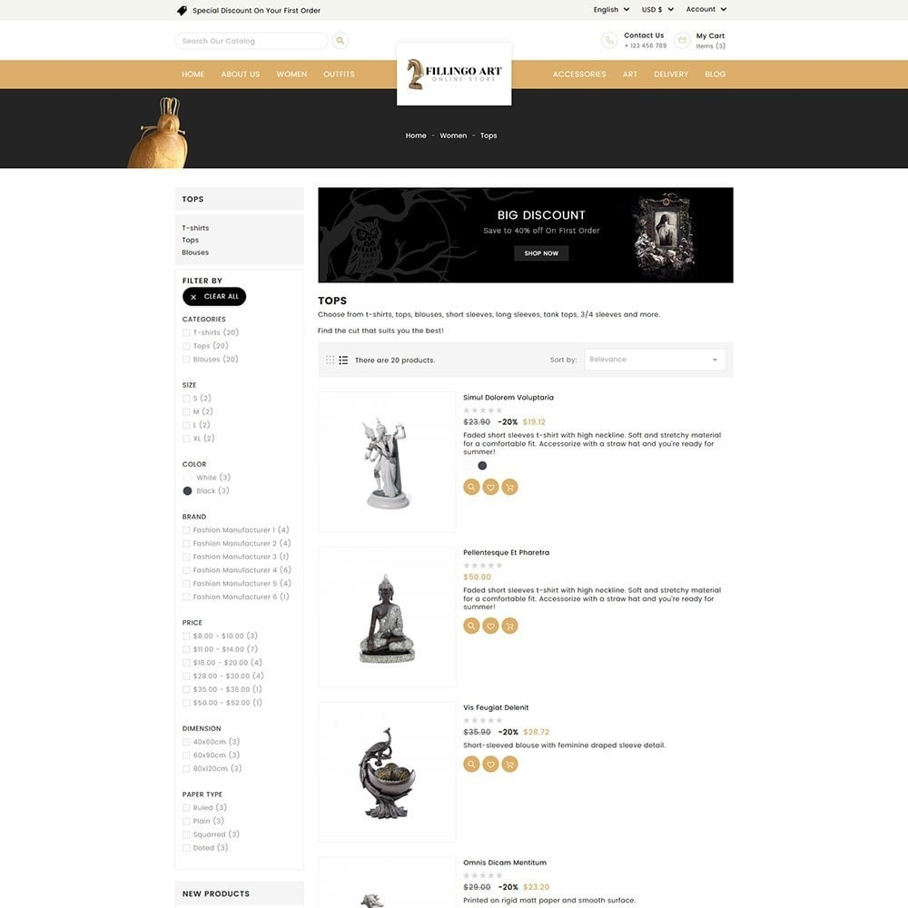 theme - Kultura & Sztuka - Filingo Art and Sculpture Store - 5