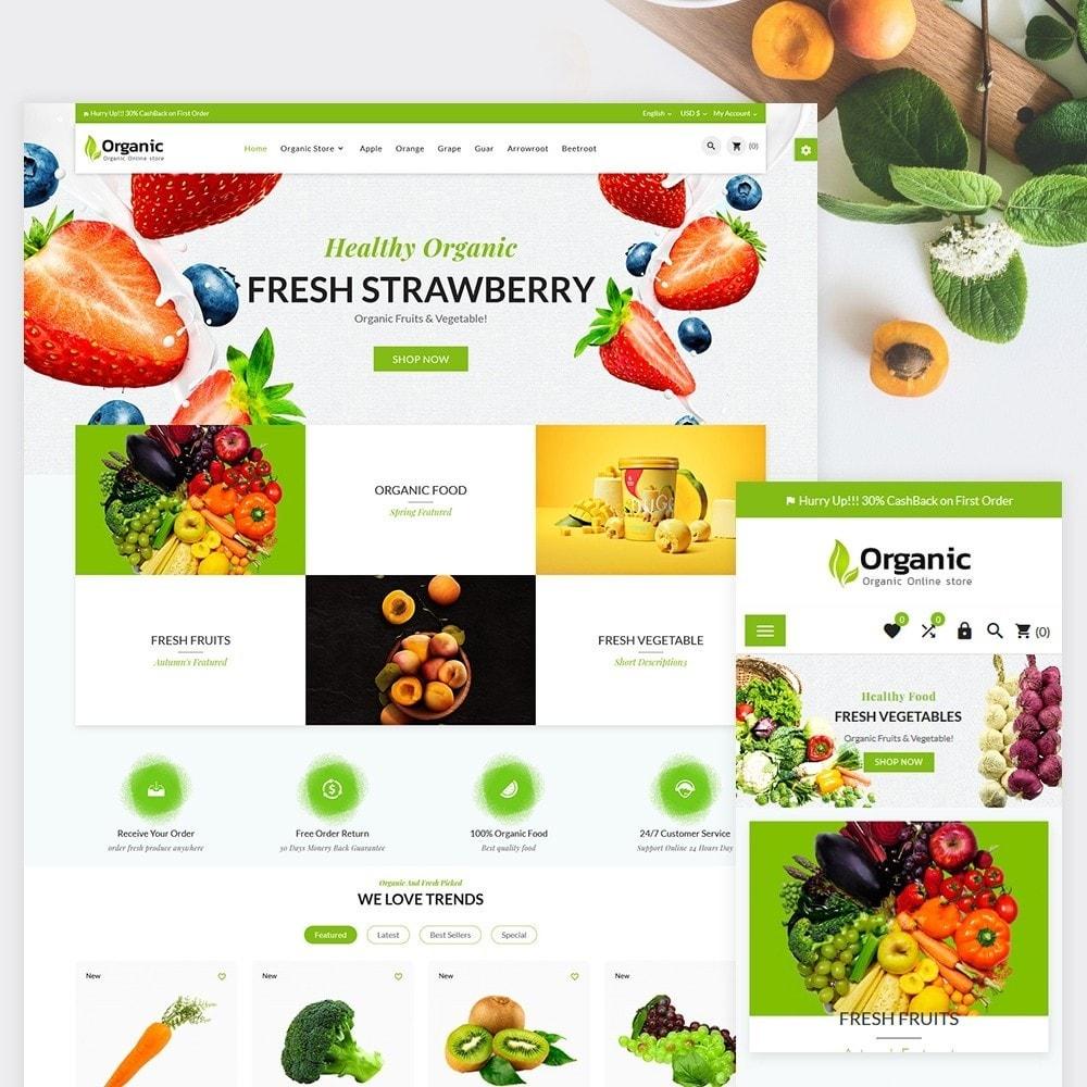 theme - Żywność & Restauracje - Organic Fresh–Food Grocery–Market Store - 1