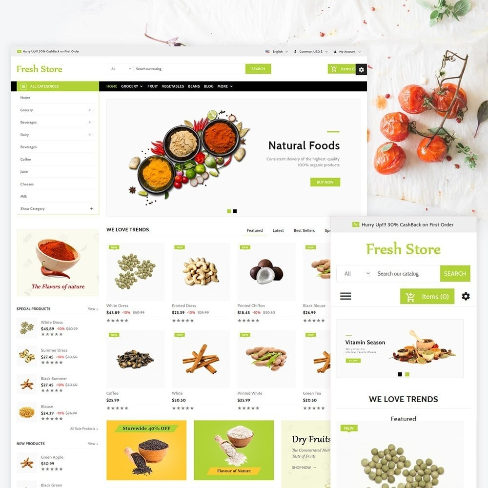 theme - Food & Restaurant - Fresh Store The Grocery Shop - 1