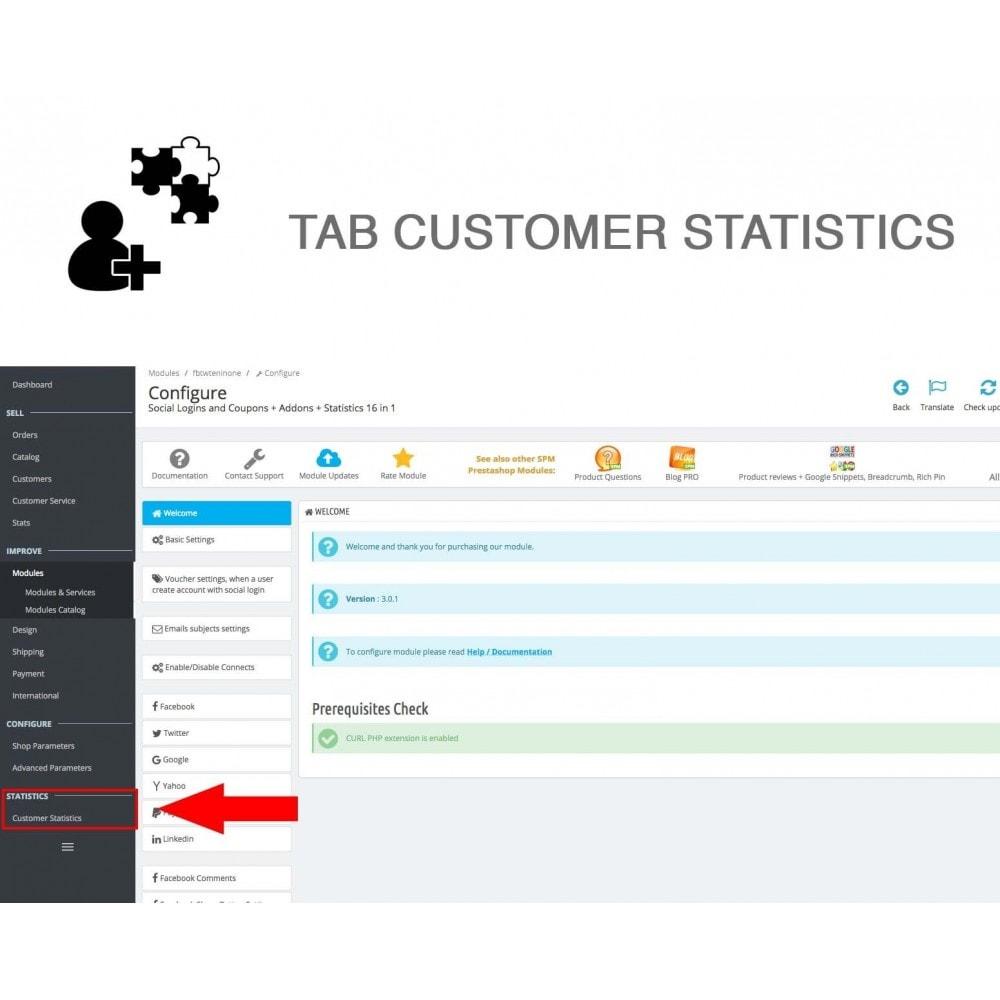 module - Compartir contenidos y Comentarios - Social Logins and Coupons + Addons + Statistics 16 in 1 - 20