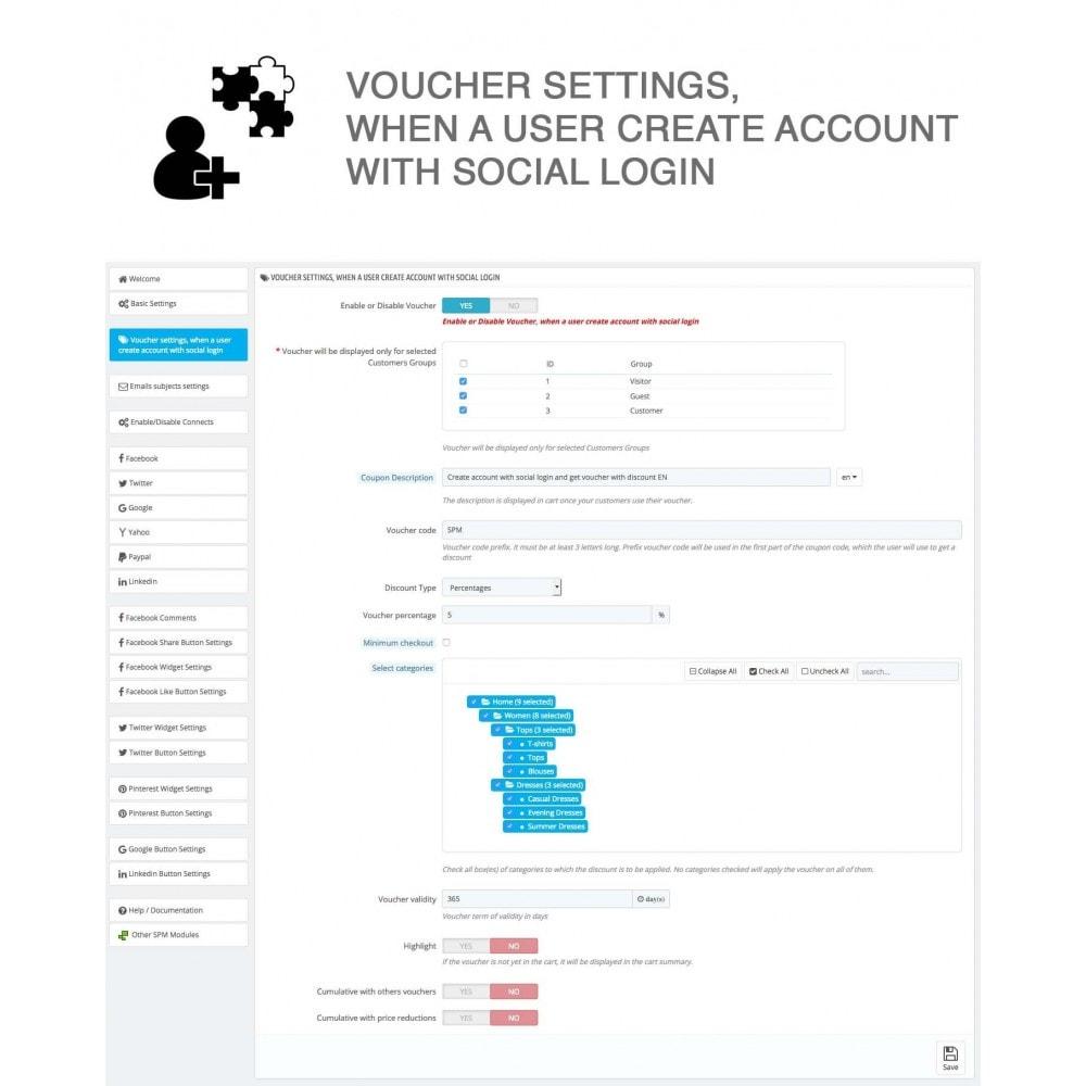 module - Compartir contenidos y Comentarios - Social Logins and Coupons + Addons + Statistics 16 in 1 - 24
