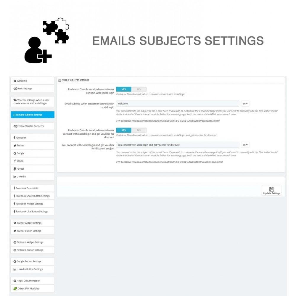 module - Compartir contenidos y Comentarios - Social Logins and Coupons + Addons + Statistics 16 in 1 - 25